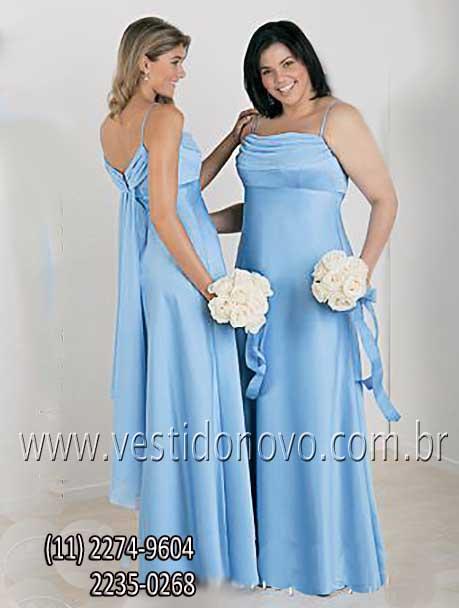 b9936fda0 vestido convidada de festa longo azul claro com alça loja em zona sul São  Paulo sp