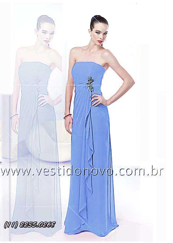 vestido de madrinha azul importado peça unica - sp - São Paulo, itaim,  aclimação 8f2b091251