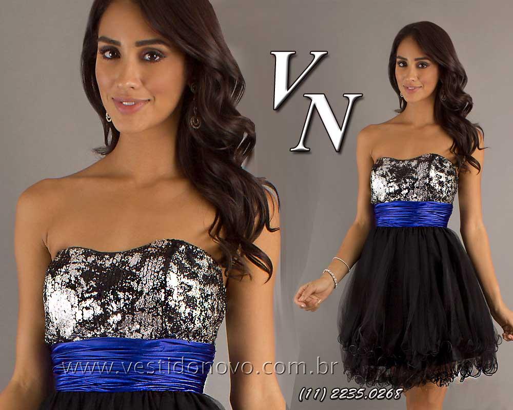 9458ffbab vestido balada curto importado azul e prata loja zona sul, aclimação,  cambuci, vila