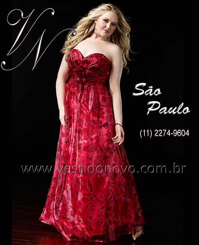 469bd75f6 Vestidos Plus size vermelho floral, formatura, madrinha, casamento civil -  zona sul,