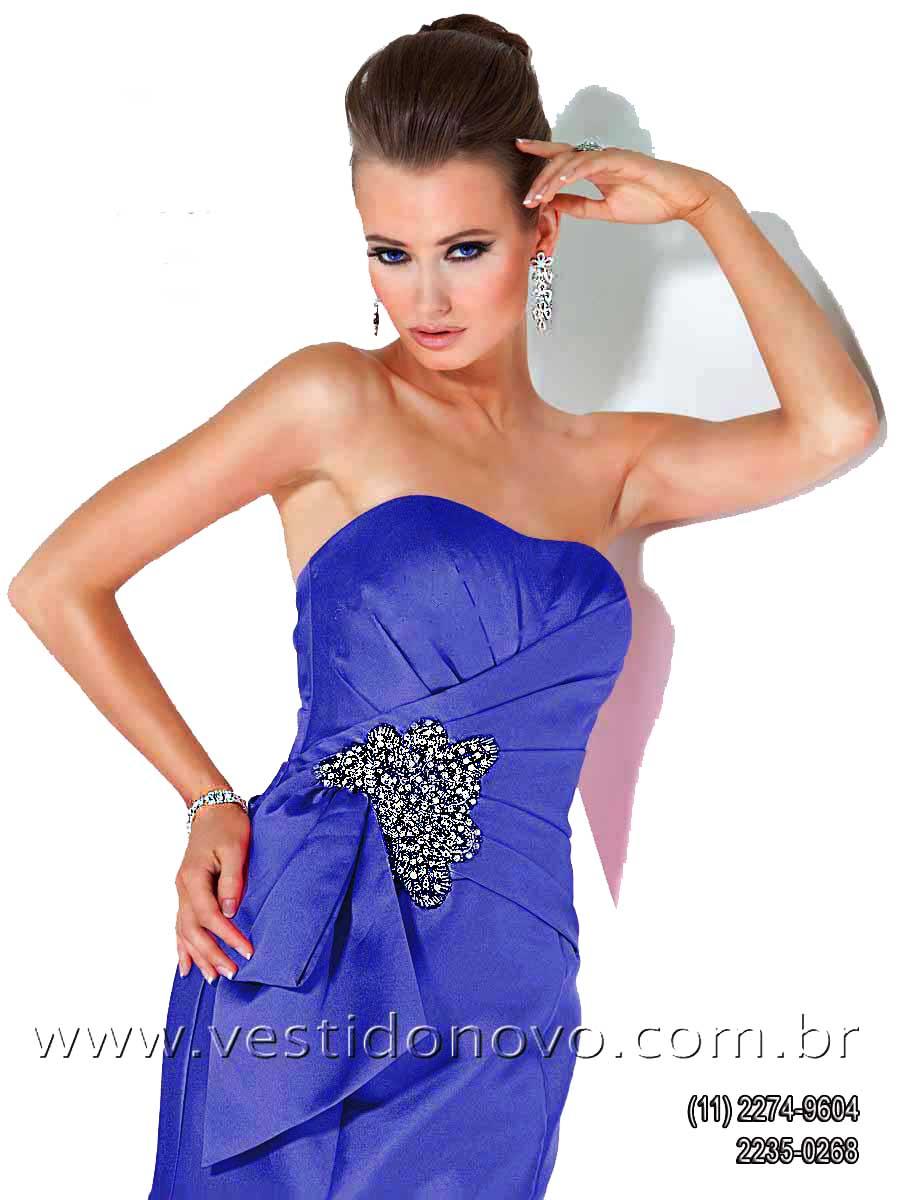bb605340f vestido de festa longo mae do noivo, azul royal Casa do Vestido Novo São  Paulo