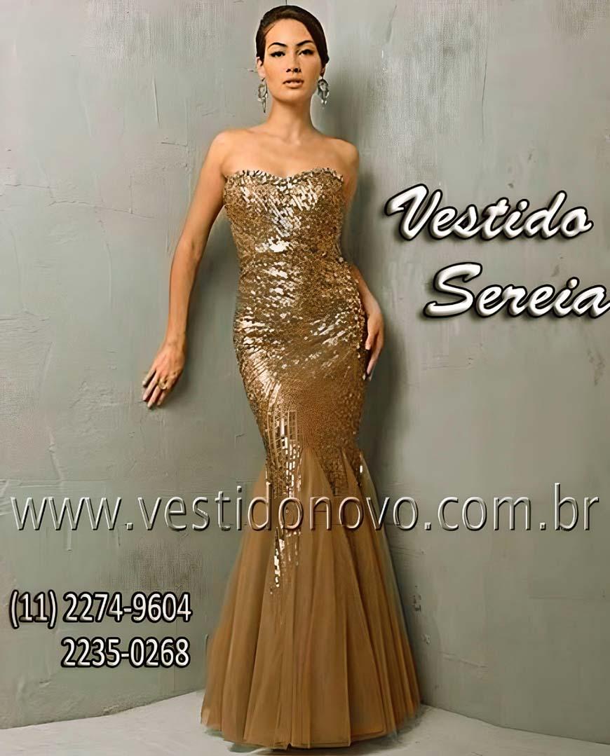b632756cfba3b vestido sereia de festa longo, na cor nude com dourado aclimação, vila  mariana,