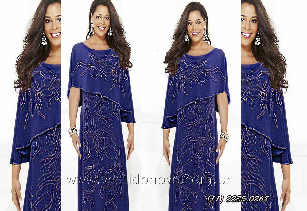 Comprar vestido azul royal longo madrinha