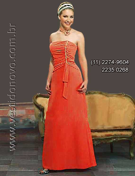 Vestido madrinha de casamento de Alta Qualidade na
